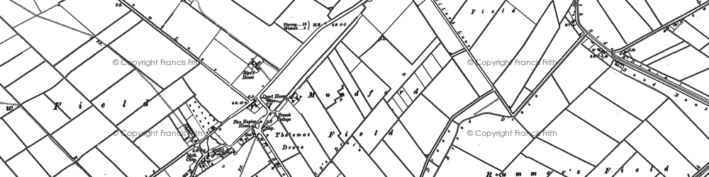 Old map of Bunker's Hill in 1900