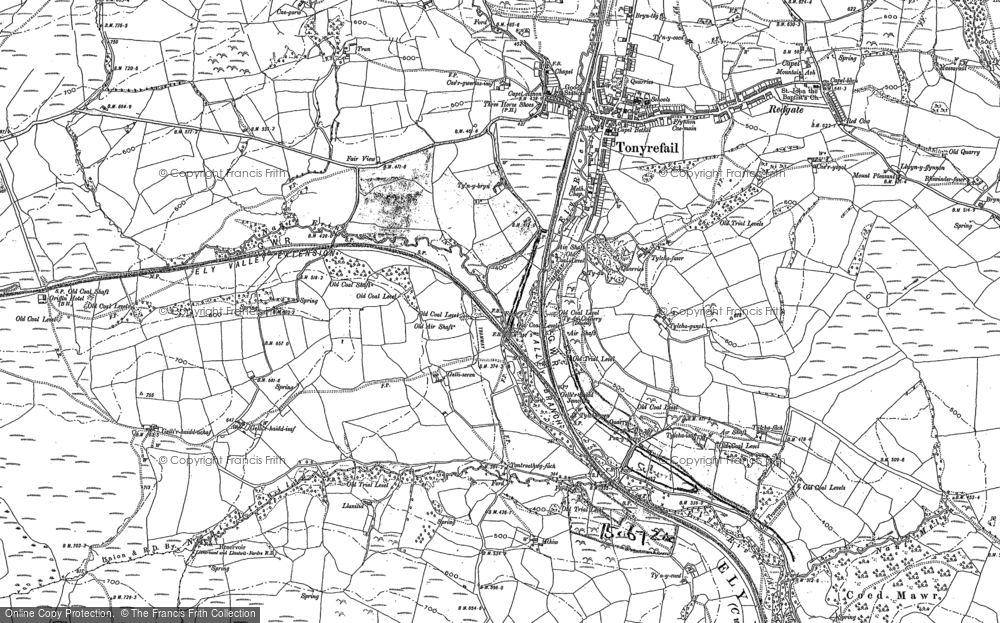 Old Map of Thomastown, 1898 in 1898