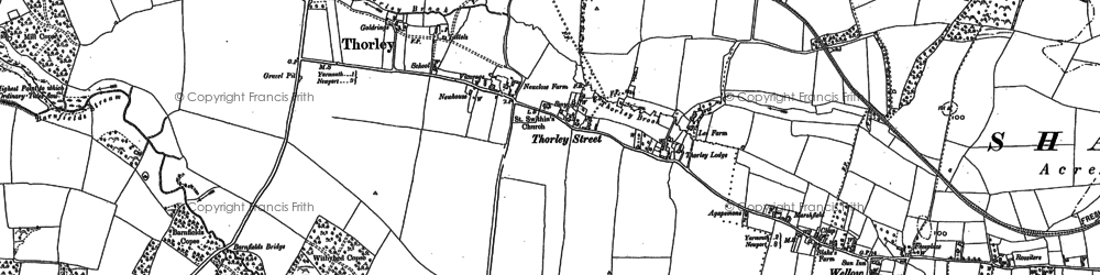 Old map of Wilmingham in 1907