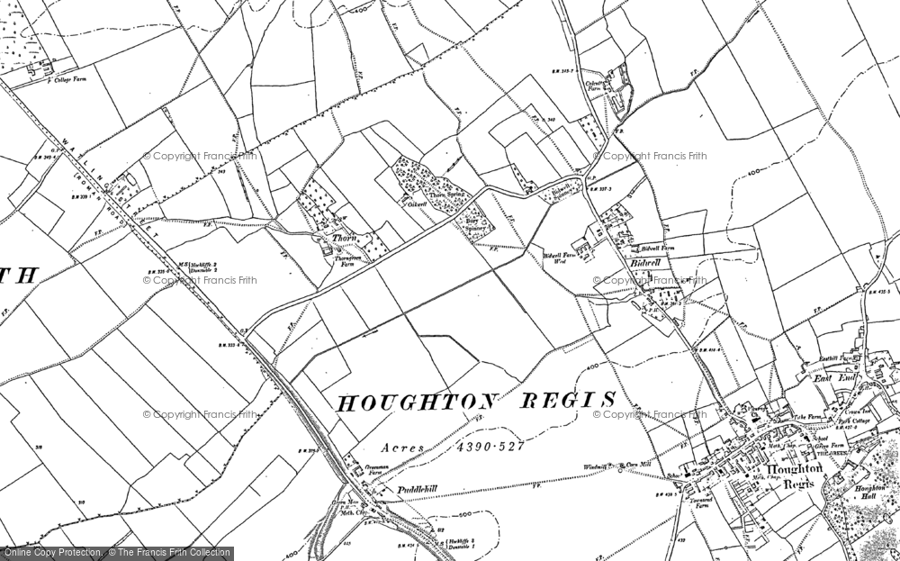 Old Map of Thorn, 1881 in 1881
