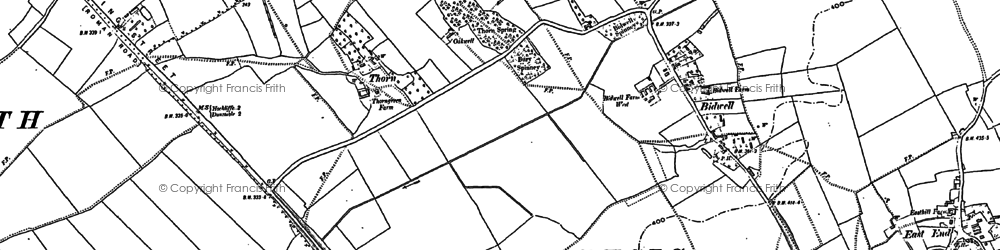 Old map of Thorn in 1881