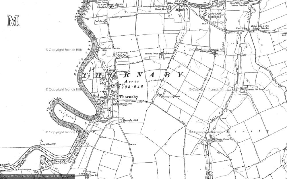 Old Map of Thornaby-on-Tees, 1913 - 1914 in 1913