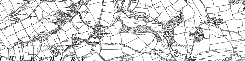 Old map of Windy Cross in 1884