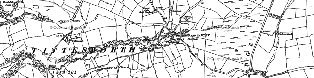 Old map of Ley Fields in 1878