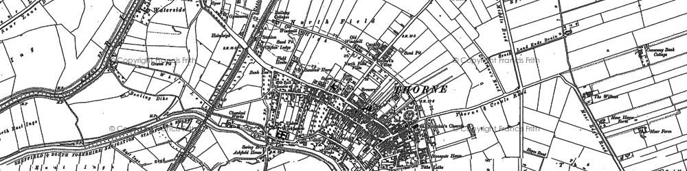 Old map of Wike Well End in 1904