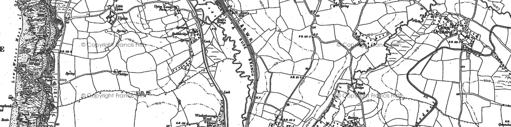 Old map of Thorne in 1905