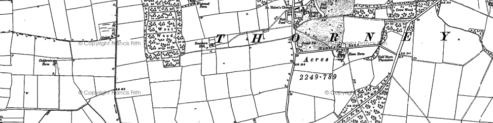 Old map of Wigsley Drain in 1885