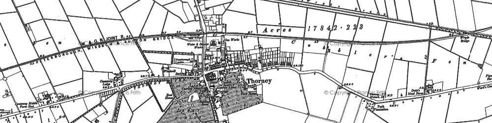 Old map of Thorney River in 1886
