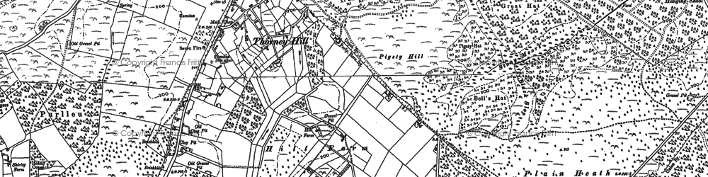 Old map of Whitten Bottom in 1896