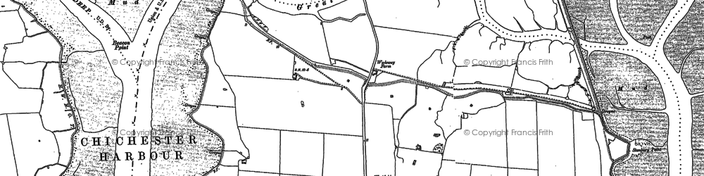 Old map of West Thorney in 1909