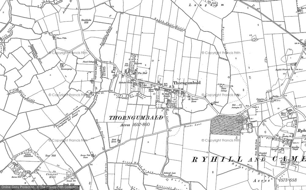 Old Map of Historic Map covering Auster Grange in 1888