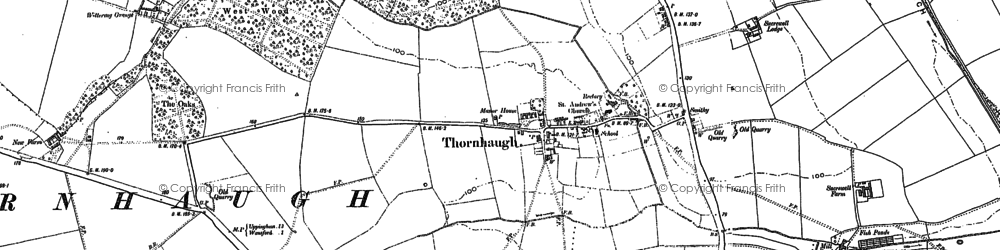 Old map of Wittering Coppice in 1885