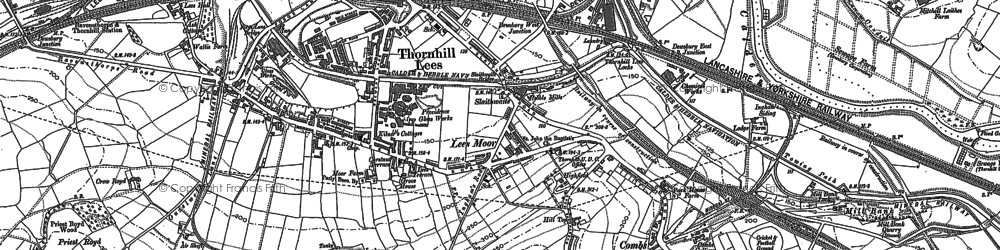 Old map of Thornhill Lees in 1888