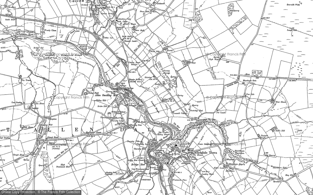 Old Map of Thornley Gate, 1895 in 1895