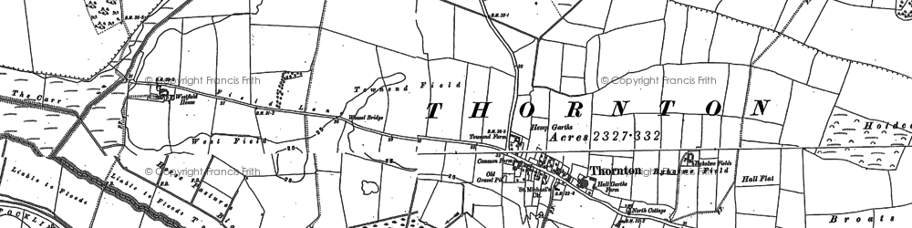 Old map of Allerthorpe Common in 1890