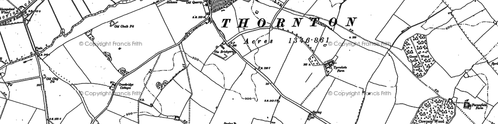 Old map of Thornton in 1898