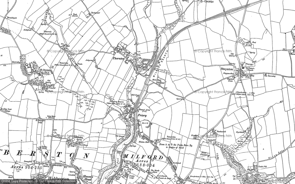 Old Map of Historic Map covering Tierson in 1906