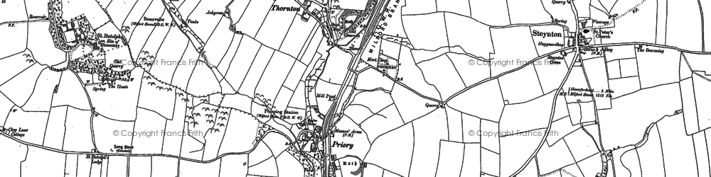 Old map of Tierson in 1906