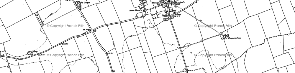 Old map of Thornton Curtis in 1886