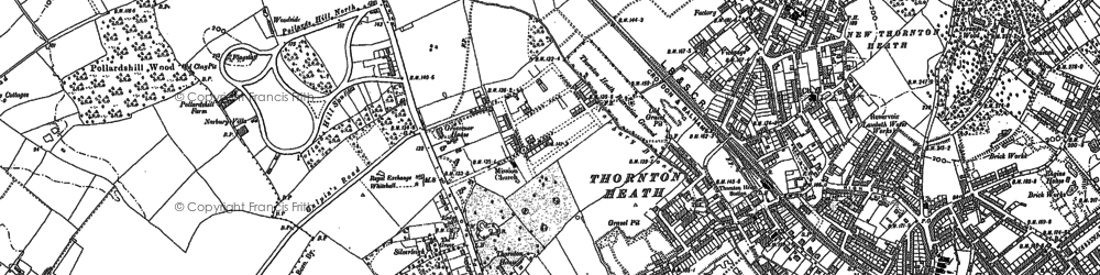 Old map of Norbury in 1894