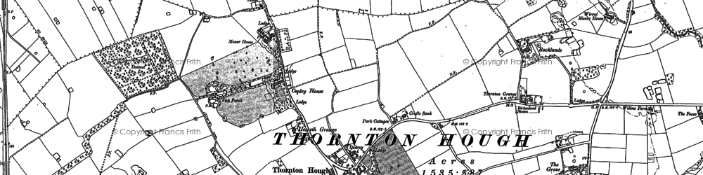 Old map of Wirral in 1897