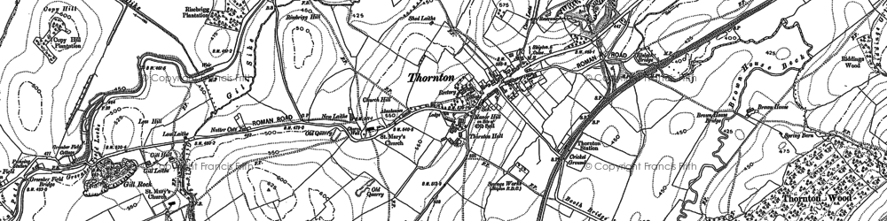 Old map of Thornton-in-Craven in 1892