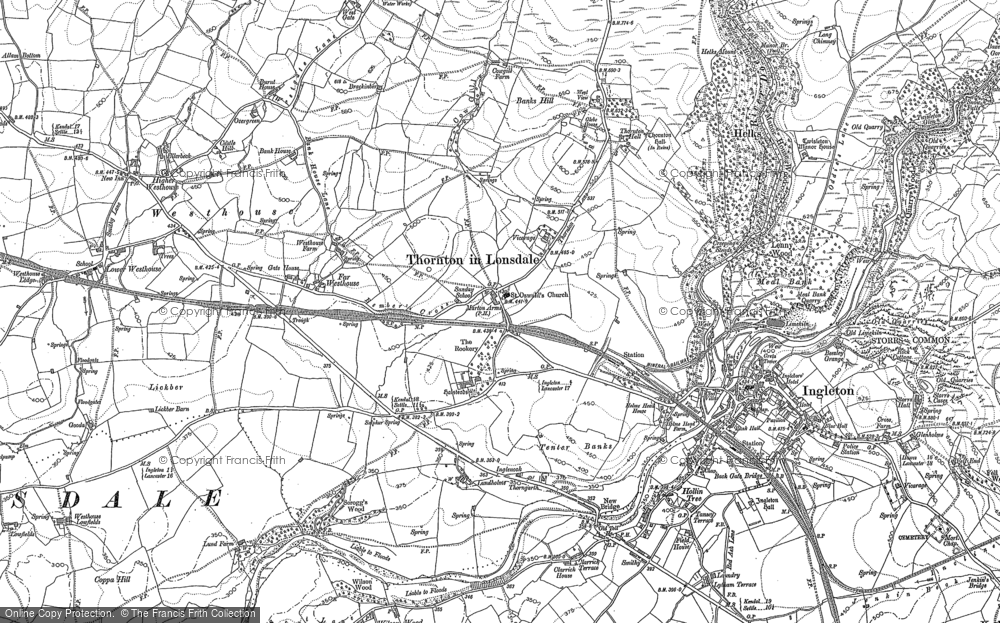 Old Map of Thornton in Lonsdale, 1907 in 1907