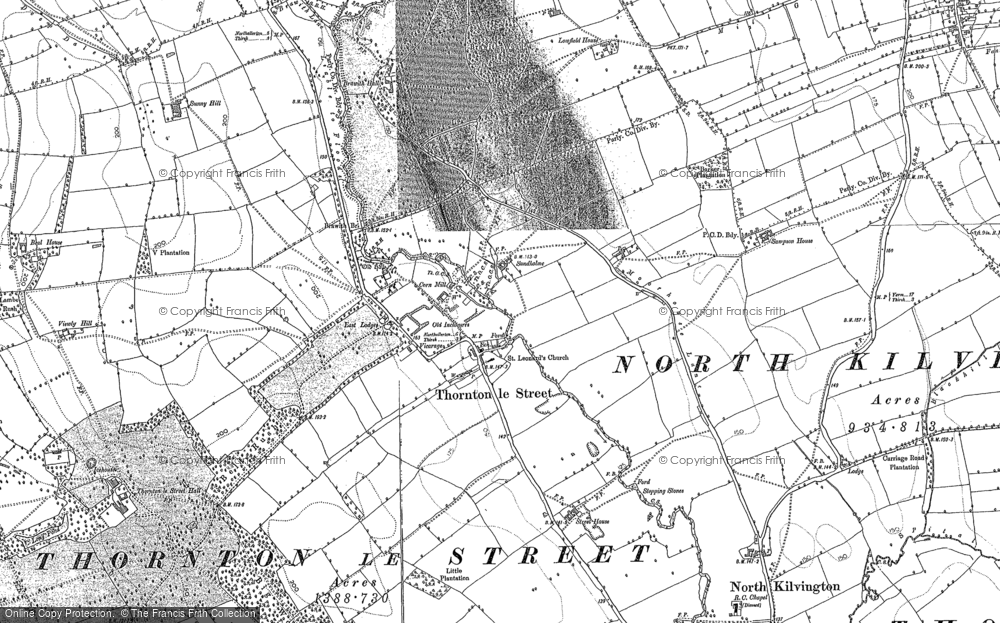Old Map of Historic Map covering Abel Grange in 1892