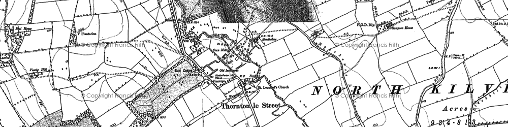 Old map of Abel Grange in 1892