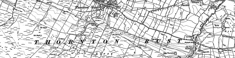 Old map of Aysgarth Moor in 1891