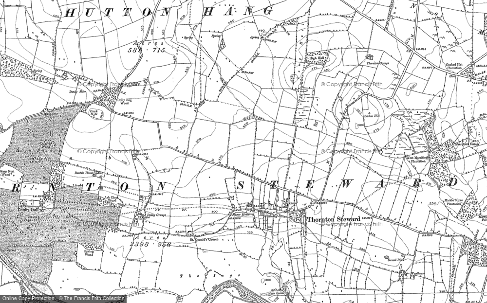 Old Map of Historic Map covering Woodhouse in 1891