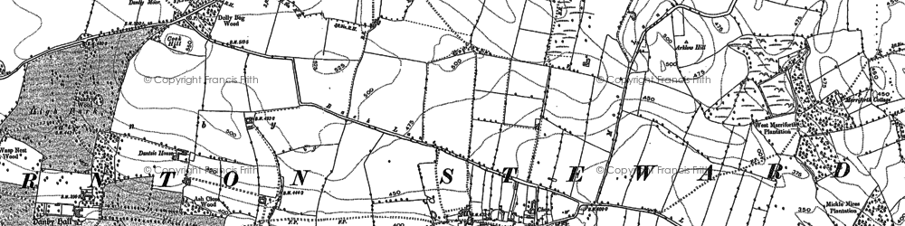 Old map of Woodhouse in 1891