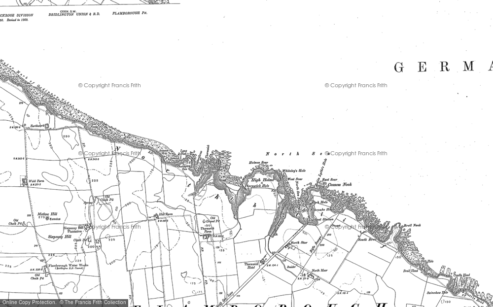 Map of Thornwick Bay, 1889 - 1909