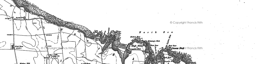 Old map of Thornwick Bay in 1889