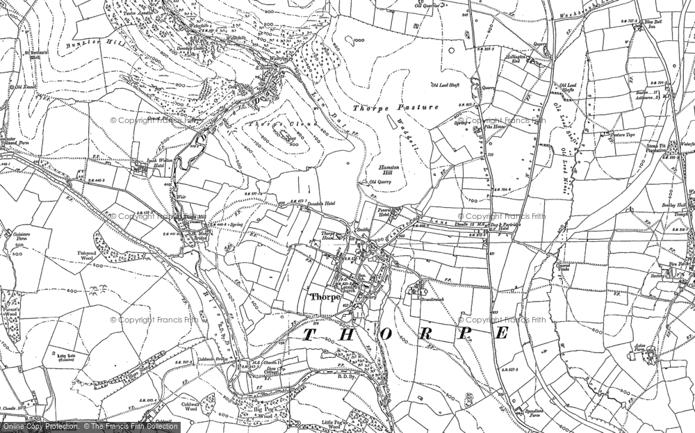 Old Map of Thorpe, 1879 - 1898 in 1879