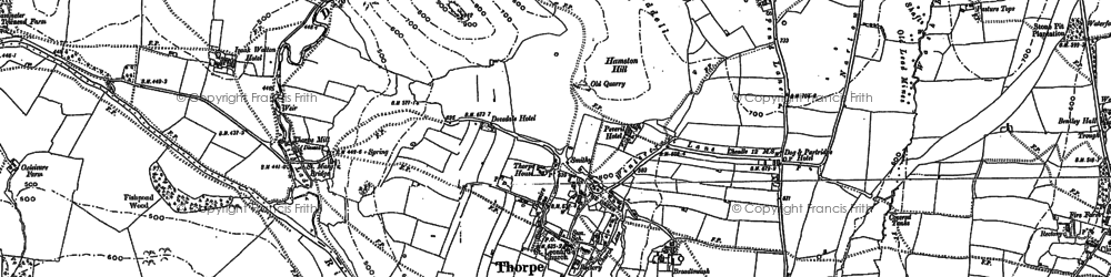Old map of Lin Dale in 1879