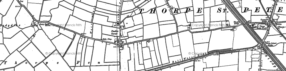 Old map of White Cross Clough in 1887
