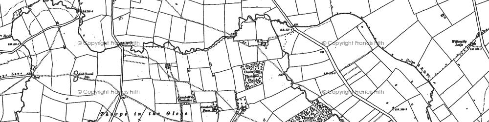 Old map of Windyridge in 1883