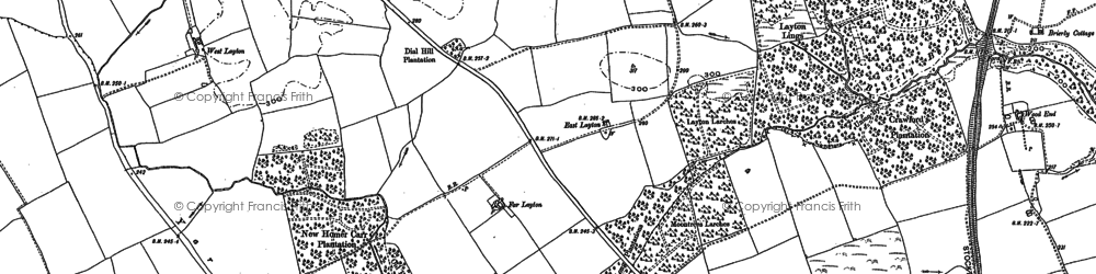 Old map of Layton Lings in 1896
