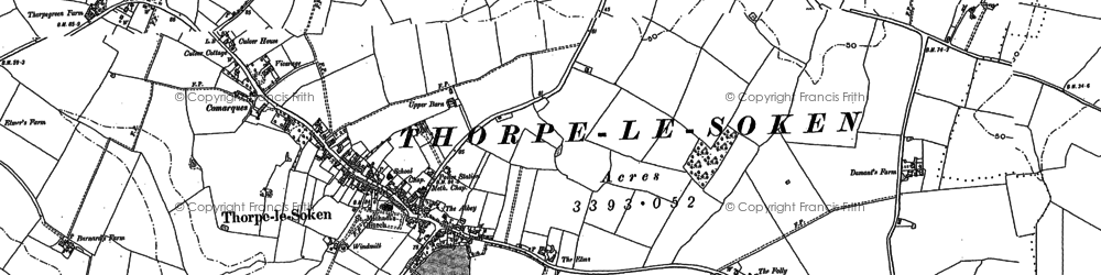 Old map of Thorpe-le-Soken in 1896