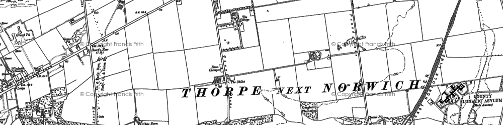 Old map of Thorpe St Andrew in 1881