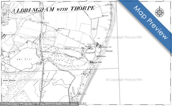 Map of Thorpeness, 1882 - 1903