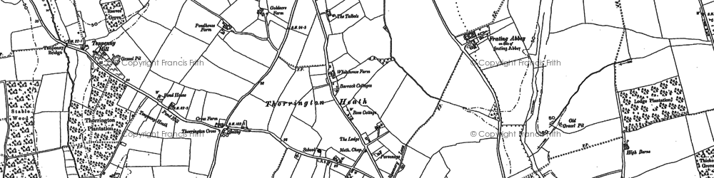 Old map of Thorrington in 1896