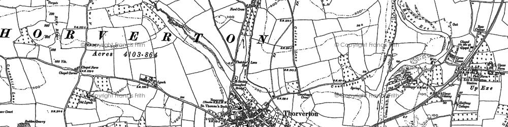 Old map of Ashley in 1923