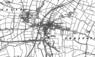 Old Map of Thrapston, 1885