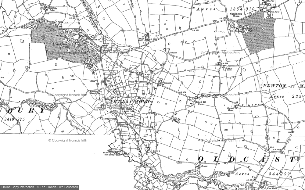 Old Map of Historic Map covering Tinkwood in 1909