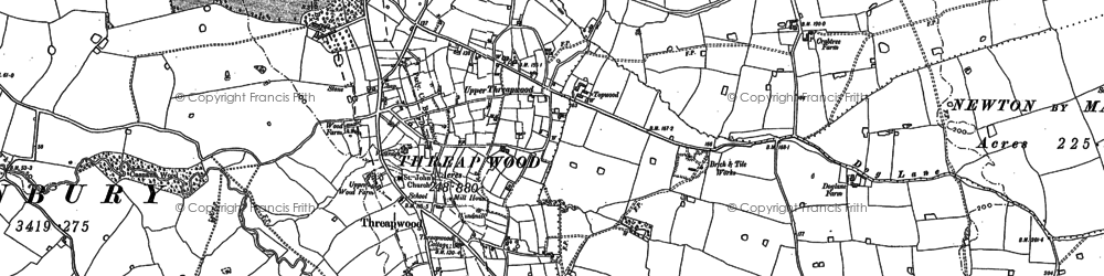 Old map of Tinkwood in 1909