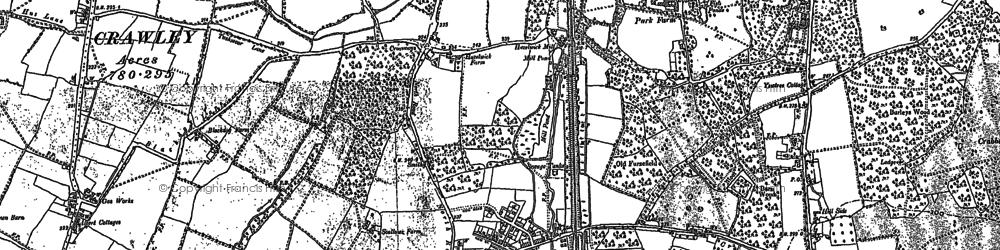 Old map of Three Bridges in 1909