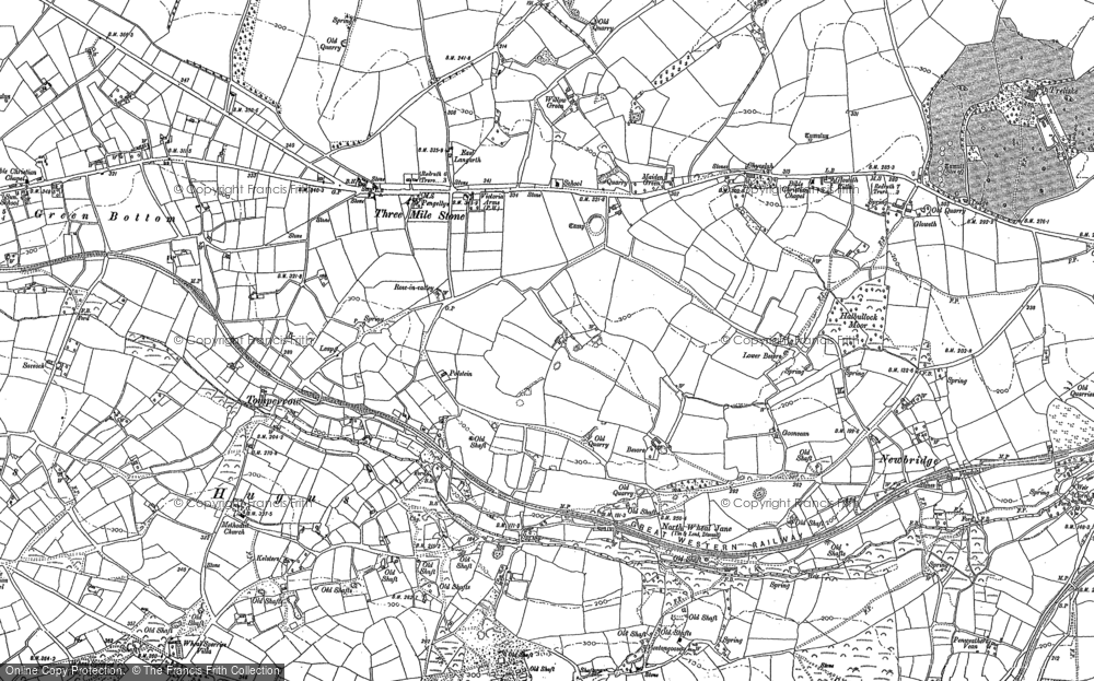 Old Map of Historic Map covering Tomperrow in 1879