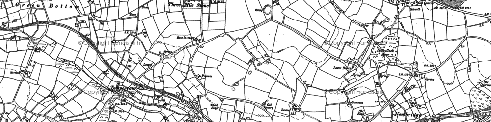 Old map of Threemilestone in 1879